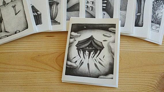 Artistic Greeting Card - No.3: from original pencil drawing artwork