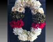 Designer door wreath Spring wreath Summer wreath Garden Glitz Southern Luxe Edition wedding wreath front door decor