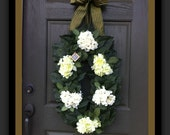 Hydrangea Wreath Summer Wreath Spring Wreath Front door Wreath Floral Wreath