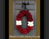Clearance Formal Wedding Wreath Hydrangea Wreath Front door Wreath Floral Wreath