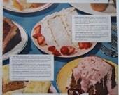 Retro Bakers Delight. Swans Down Cake Mix.  Magazine Advertisment.