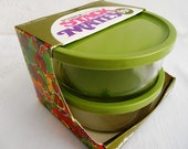 Rare Packaged Pyrex Stack Mates..  Set of  2
