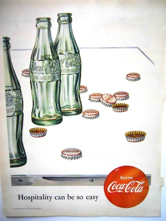 Retro Coca Cola.  Magazine Advertisment.