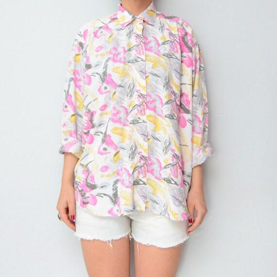 Vintage Pastel Floral Watercolors Shirt