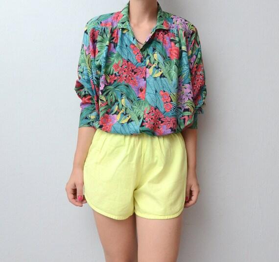 Vintage tropical jungle shirt