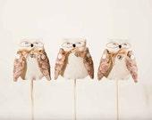 Owl. Garden Decor. Set of 3. Home Decor. Art. Decorative Toys For Room