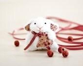 Little bunny, Miniature bunny rabbit handmade with a heart in a gift box, Cute bunny, White Rabbit, Heart