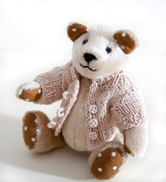 Handmade Bear,  Child's Room Decoration, Beige Bear
