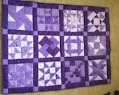 Purple Sampler Quilt Wall Hanging