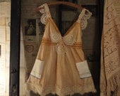 Tea Dyed Cami Tunic made from Rachel Ashwell Shabby Chic nightgown
