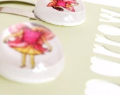 Resin Snap Hair Clips - Flower Fairy Clips