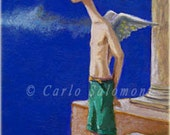 If I could fly now - original ACEO -