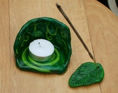 Grove and Leaf, Tealight & Incense Holders - CURRENTLY RESERVED