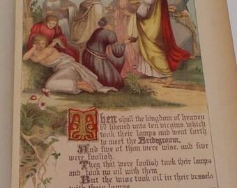 Bible 1800s Color Page Bridegroom
