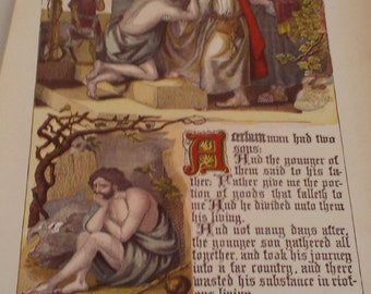 Bible 1800s Color Page Two Sons
