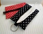 Red Polka Dot tissue case , tissue cover, tissue holder, travel tissue covers,pocket tissue cover