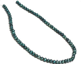 Pearl, cultured freshwater (Dyed), Lake bule, 5-6mm potato. Sold per 14.5 inch strand.