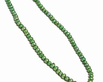 Pearl, cultured freshwater (Dyed), Lake green, 5-6mm potato. Sold per 14.5 inch strand.