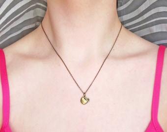 Apple Teacher Necklace, Tiny Apple Necklace, Minimalist Teacher Necklace, Small Apple Charm Necklace, Cute Apple Pendant Necklace