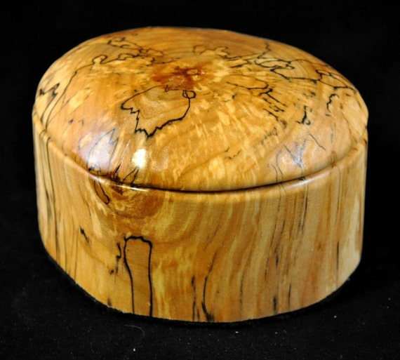 Rustic Spalted Maple Jewelry, trinket or key Box
