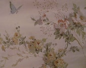 Country Charm King Pillow Case Floral with Butterflies Ruffles and Lace