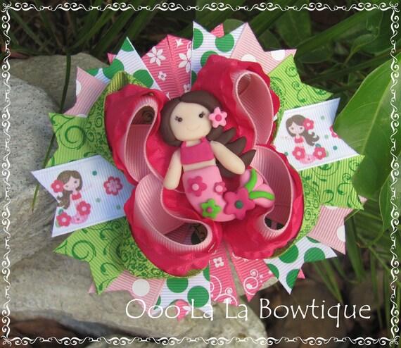 Floral Mermaid m2m m2mg Hair Bow