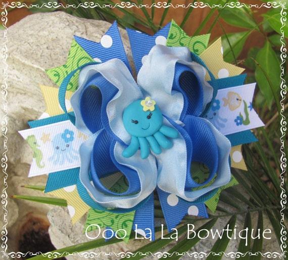 Sea Splash m2m m2mg octopus fish Hair Bow