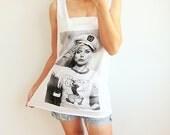 Blondie Debbie Popeye Punk Rock Indie Disco White T Shirt Tank Top Women Size M