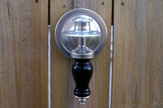 "Wall Sconce Vintage Retro ""Up-cycled"" Taper Candlestick Holder Silver and Black"