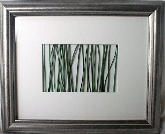 zen inspired wall art framed nature green reed grass on. Black Bedroom Furniture Sets. Home Design Ideas