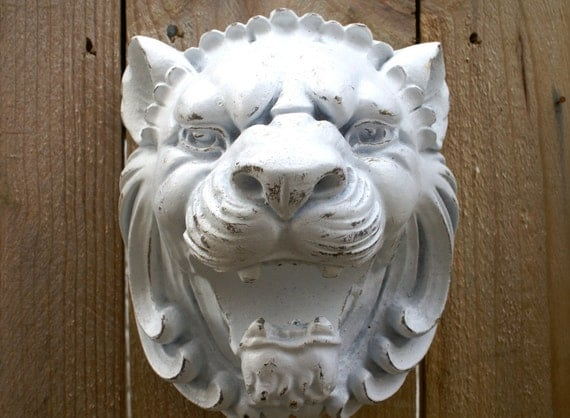 Lion Head Wall Hanging Upcycled Curtain Rod Holder