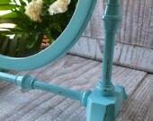 Shabby Turquoise Vanity Mirror