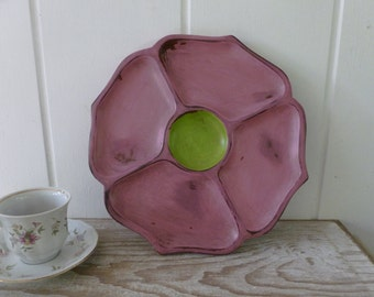 Painted Decorative Wood Plate