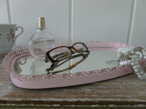 Blush Pink Vanity Mirror Tray