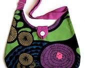 Multicolored shoulder bag messenger bag, Ready to ship