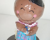 "Paper mache art doll - ""Michoacana"""