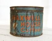 Vintage One Pound Maxwell House Coffee Tin