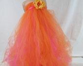 Girls Tulle Tutu Flower Girl Dress