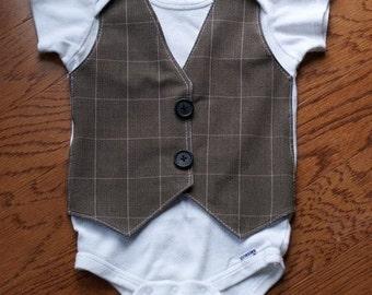 Vest or Bowtie Onsie or Shirt