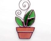 Spring Seedling flower pot 1 suncatcher Think Spring fresh home decoration