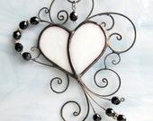 Nastasia A3 art nouveau ornate heart filigree white black