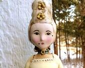 Marie Antoinette Papier Paper Mache Folk Art Doll large by April Harres