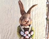 Dapper Regency Easter Bunny Folk Art Easter by April Harres