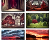 6 folded greeting cards of your choice, 5inch x 7inch high quality art photography prints, 13cm x 18cm, folded greeting cards