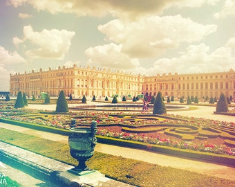 Shabby chic decor, Paris wall art, vintage style palace of Versailles, decoration art photo print, any size up to very large, print to frame