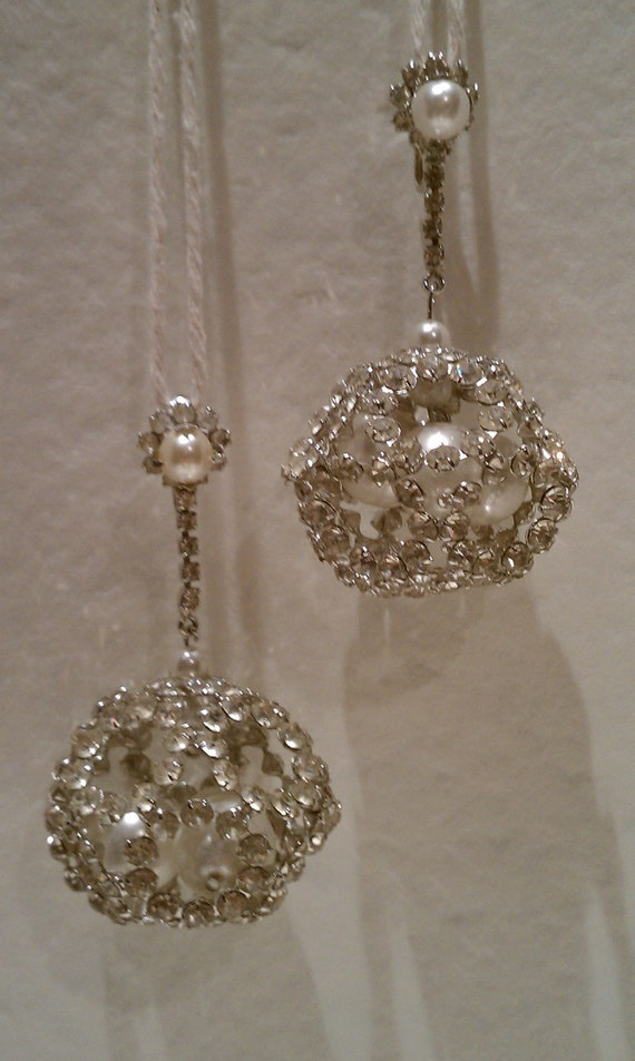 RESERVED    MAD MEN Exquisite 1960s Rhinestone Earrings