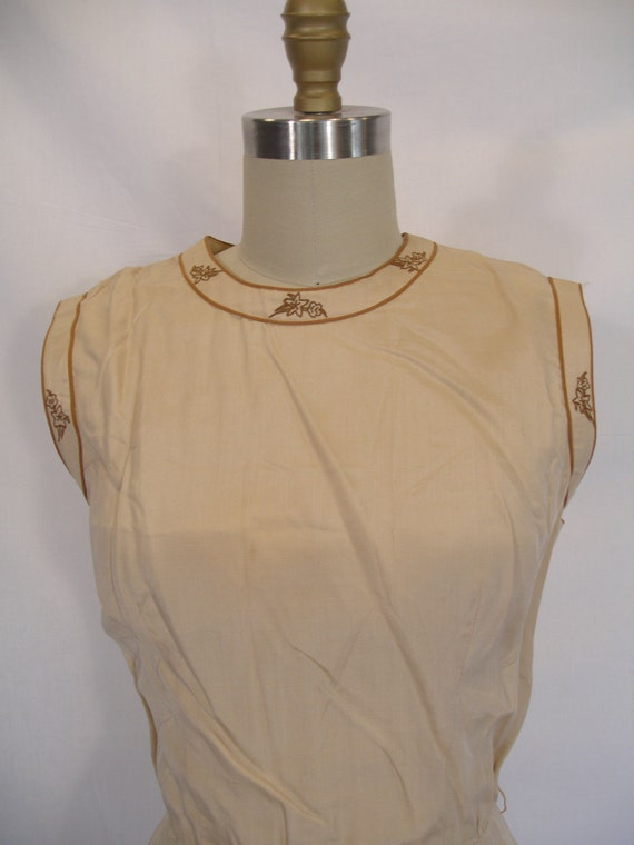 1960s Almond Dress of Fine Silk
