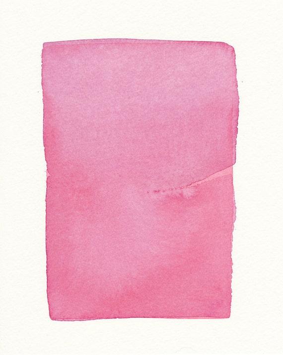 a minimal veil of pinks original small watercolor
