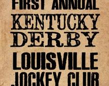 Kentucky Derby Historical Handbill 8x10