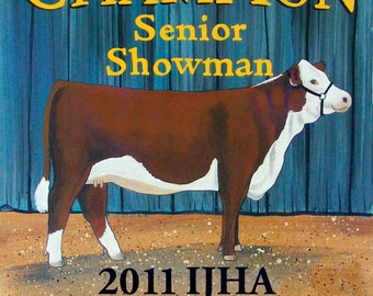 Hand Painted Livestock Show Awards and Recognition Awards